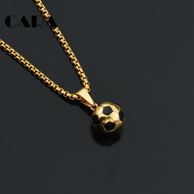 1950 best necklaces pendants images on pinterest collars cara new arrival soccer necklaces men jewelry gold color stainless steel hip hop fitness football sport mozeypictures Image collections