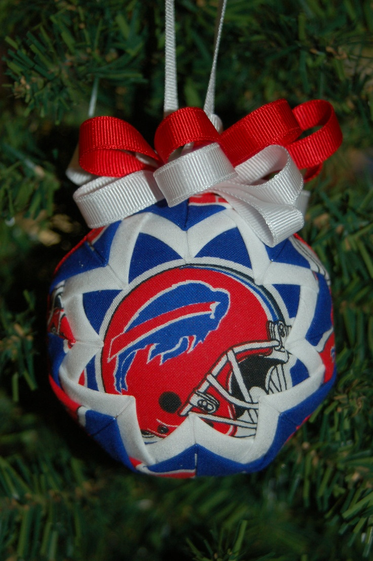 Buffalo Bills Folded Star Ornament Football Christmas