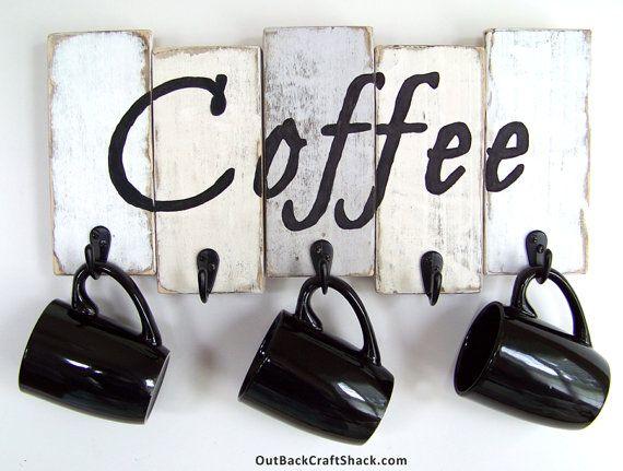 Kitchen Decor, Coffee Cup Holder, Kitchen Storage, Coffee Mug Holder, Mug Rack…