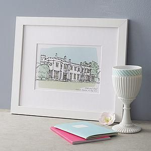 Personalised Wedding Venue Portrait Print - The best wedding presents are always the ones that come from the heart, so capture the best qualities of the happy couple in your gift. Thoughtful and personalised presents for the newlyweds.