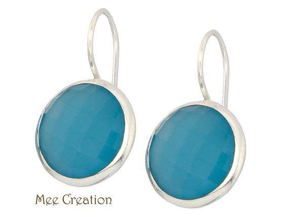 EE5020008 Blu Calcedonio Orecchini calcedonio blu di MeeCreation