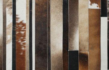 Stripes Cowhide Patchwork Rug modern rugs