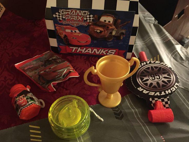 Each kid takes home a box full of treats