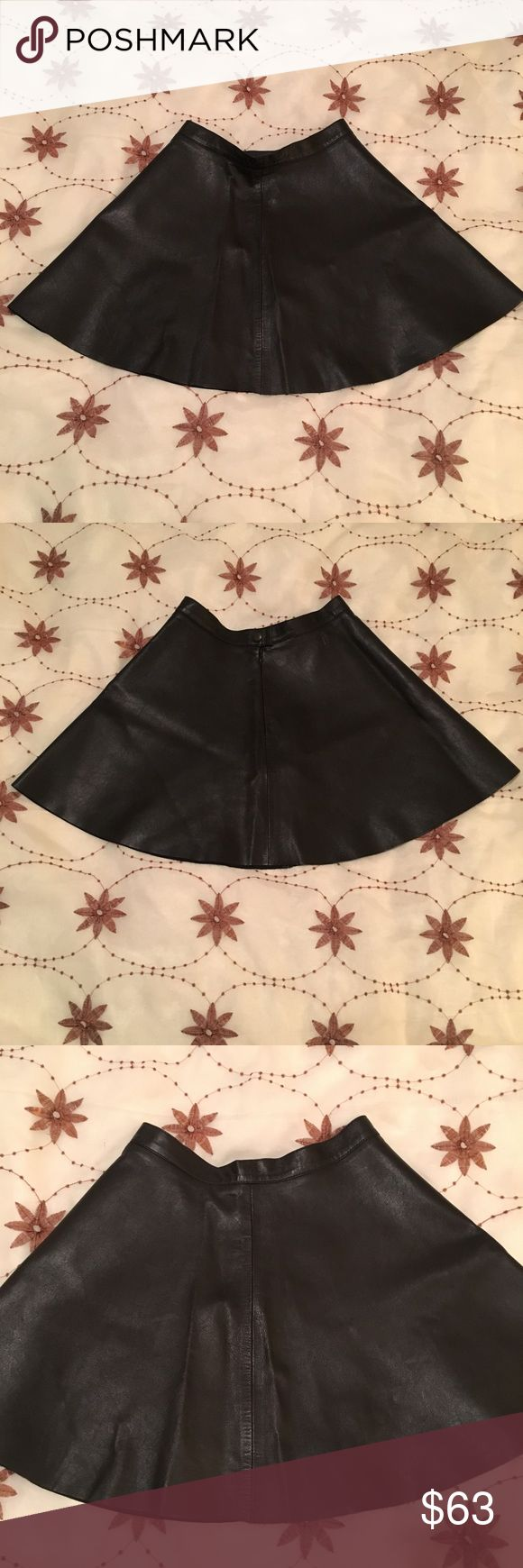 "AMERICAN APPAREL 100% LAMBSKIN LEATHER SKIRT AMERICAN APPAREL LAMBSKIN LEATHER SKIRT WITH A ZIPET ON THE BACK. ""LIKE NEW"" CONDITION ‼️🔥‼️ American Apparel Skirts Mini"
