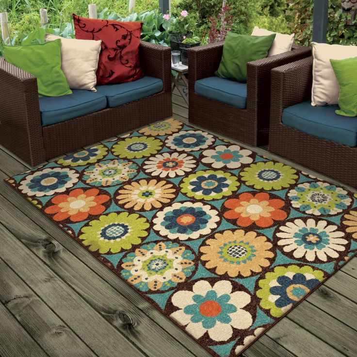 Carolina Weavers Promise Kilbury Multi Rug | Outdoor Rugs