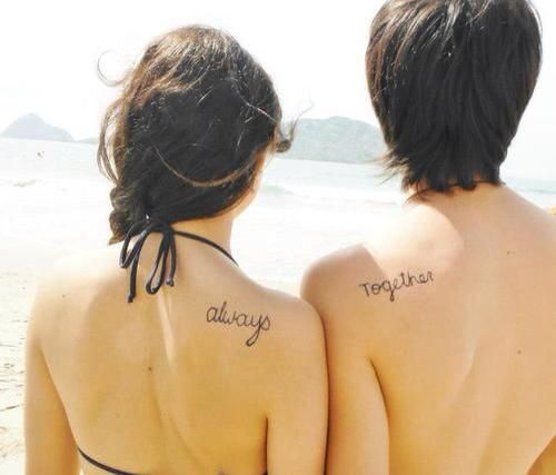 """Always Together"" couples tattoo."