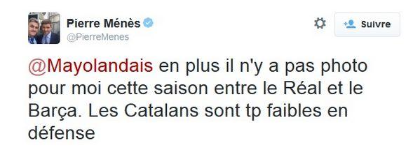 Entre le Real et le Barça, Pierre Ménès a fait son choix - http://www.actusports.fr/122499/real-barca-pierre-menes-fait-choix/