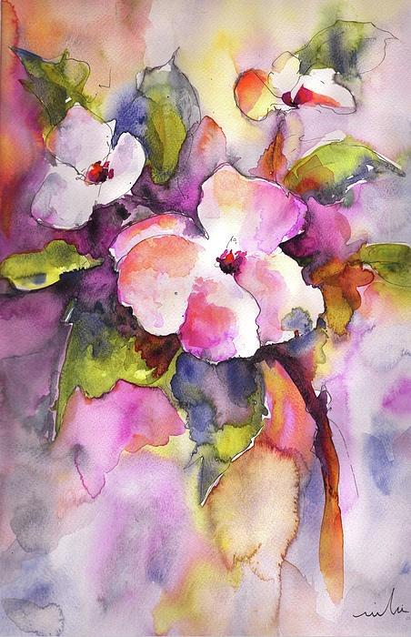 Blossoms, Miki De Goodaboom - painted flowers