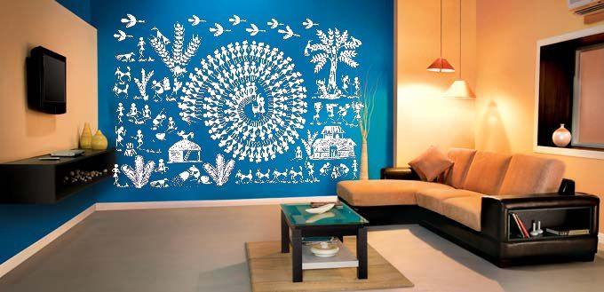 Warli Tarpa Dance Wall Decal-Wall Decals