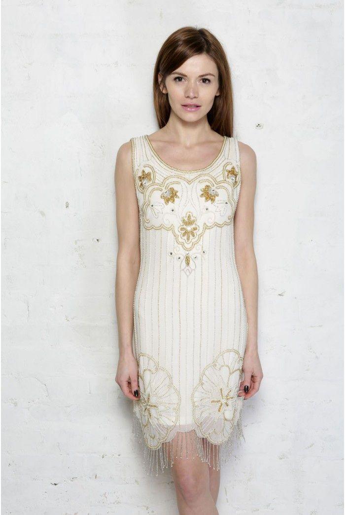 Gold flapper dresses cheap