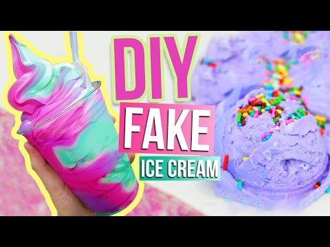 DIY ICE CREAM DOUGH ♥ What To Do When You Are BORED! Room Decor - YouTube