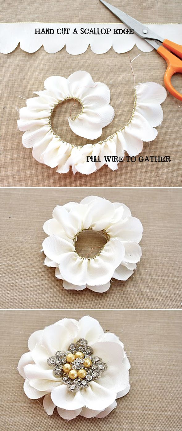 wired ribbon flower - would make a pretty hair accessory for a special occasion! ♡ Teresa Restegui http://www.pinterest.com/teretegui/ ♡