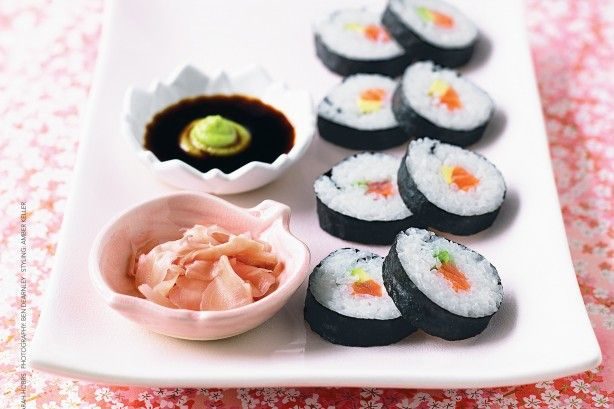 Try your hand at making these traditional Japanese sushi with a salmon and avocado filling.