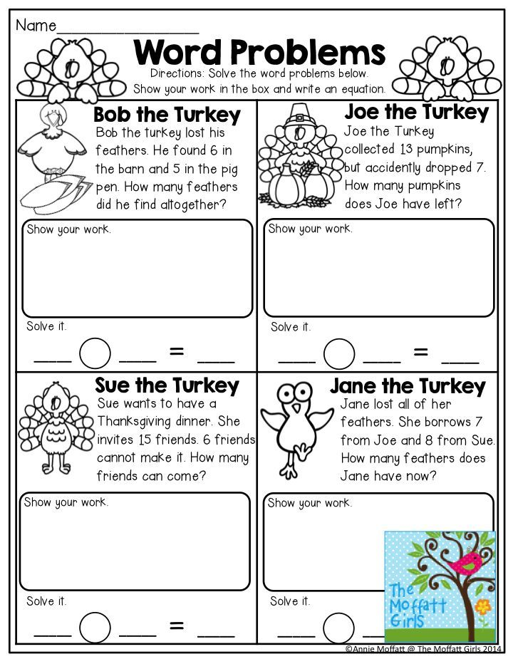 Word Problems Read The Turkey Word Problems And Solve The