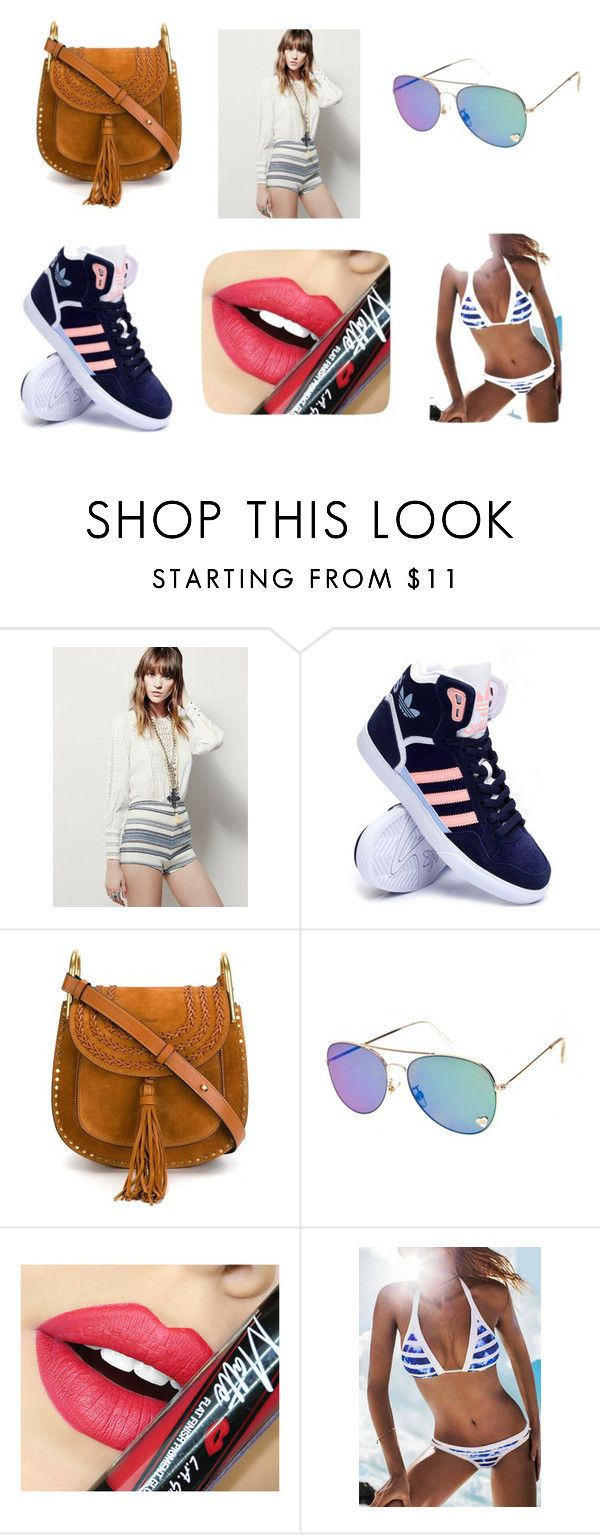 """Lucy Luco"" by exkniha on Polyvore featuring Free People, adidas, Chloé, Fiebiger, women's clothing, women, female, woman, misses and juniors"