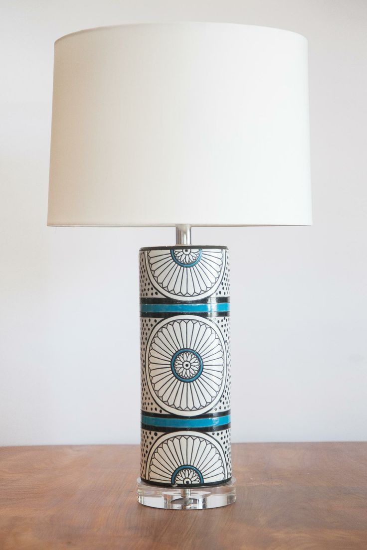 Suzanne Turquoise Black White Lamp FleaPop Buy And Sell Home Decor Furniture Antiques