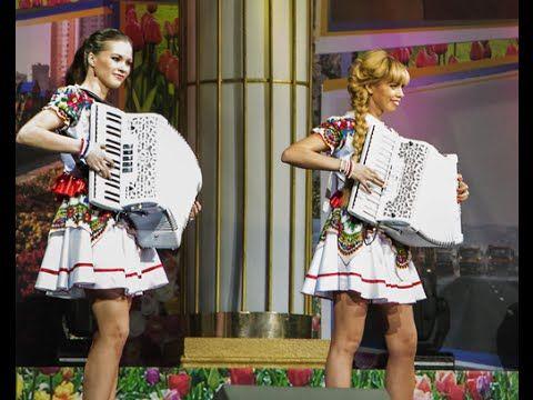 """Самые красивые аккордеонистки России-Дуэт """"ЛюбАня""""[аккордеон,accordion,h..."""