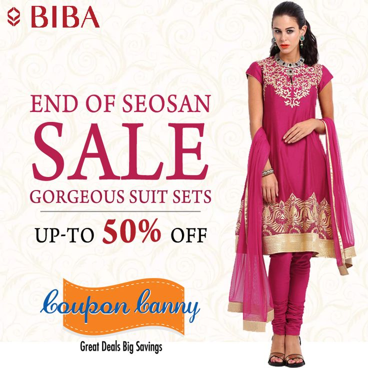 EOSS: Gorgeous suit sets Up-to 50%off at ‪#‎Biba‬! Claim Now : http://www.couponcanny.in/end-of-season-sale-deals/