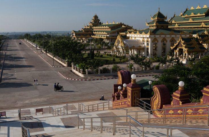 """A cidade """"fantasma"""" de Naypyidaw está envolta em secretismo. Ela se tornou a capital de Myanmar, há uma década, depois que o governo decidiu mudar a capital de Yango"""