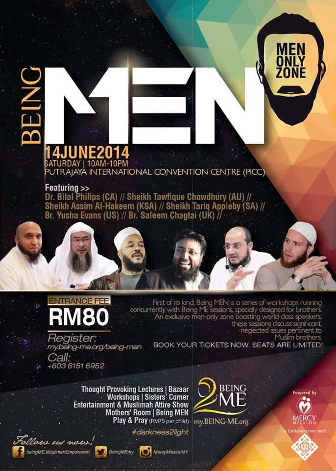 "In shaa Allaah Dr. Bilal Philips will be participating with Mercy Mission for the upcoming women's conference "" Being ME - Muslimah Empowered"" in Kuala Lumpur on the 14th of June along with a number of other capable lecturers and scholars.  You can find event details here: https://www.facebook.com/events/271198853053016/"