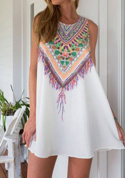 Ethnic Style Casual Dress