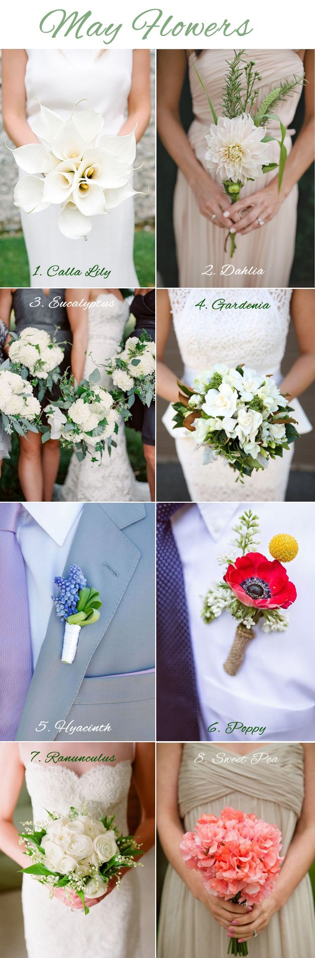 May Wedding Flowers - Lucky in Love Wedding Planning Blog - Seattle Weddings at Banquetevent.com #weddingflowers #Mayflowers #Springflowers