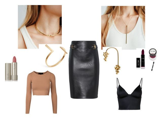 day-to-nite transition by aleksandra-hamrol on Polyvore featuring moda, T By Alexander Wang, Moschino, Ilia, edgylook, daytonite and auratenyc