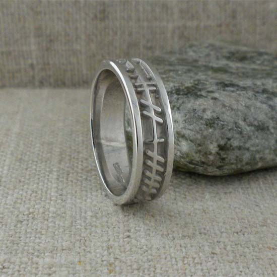 and oxidised style band htm celtic silver ogham knot rings wedding
