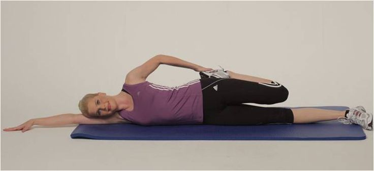 Ski Trip Stretches - Lying Quad Stretch