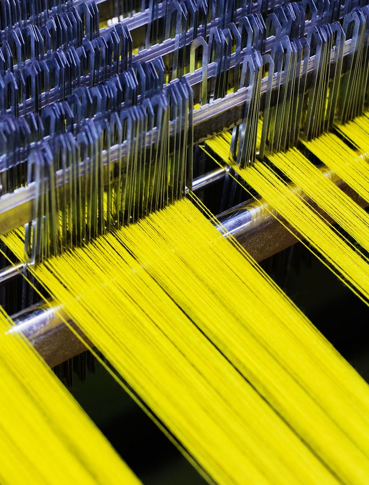 Kvadrat/Raf Simons textiles coming to life at the manufacturer Innvik Sellgren, western Norway. Photo: Lars Petter Pettersen