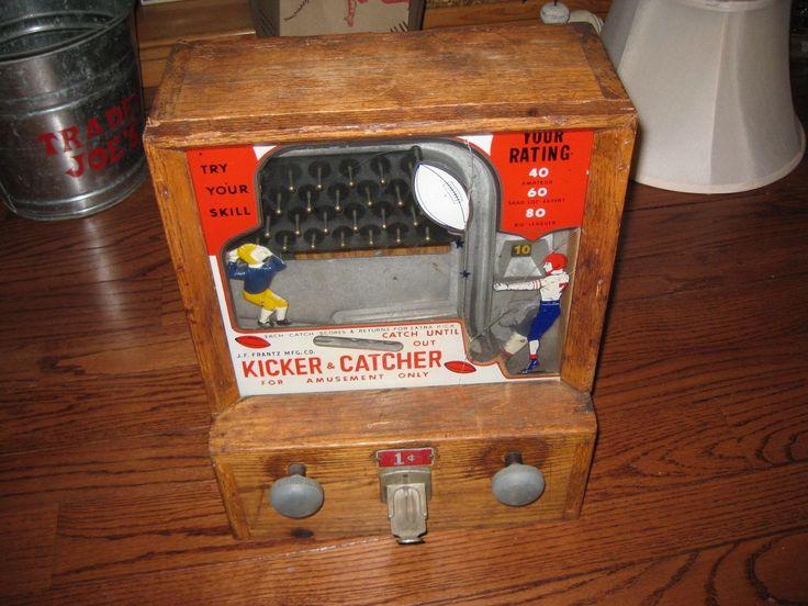 1¢ J. F. Frantz Mfg. Kicker & Catcher Skill Game in Collectibles, Casino, Trade Stimulators | eBay