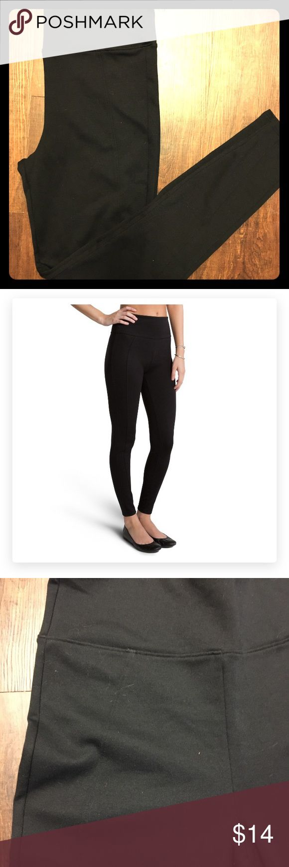 Assets Ponte Leggings Assets by Spanx, black ponte leggings. Fitted and really hold you in. Full coverage, can't see through them! Never worn, only tried on. Assets By Spanx Pants Leggings