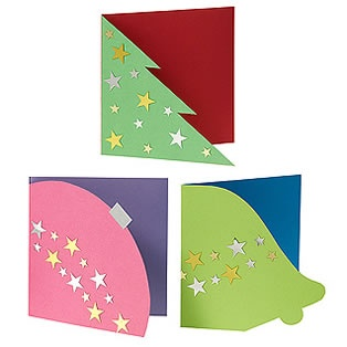 Image detail for -Ideas Library - Bauble, Bell & Tree Christmas Cards | Hobbycraft                                                                                                                                                                                 Más