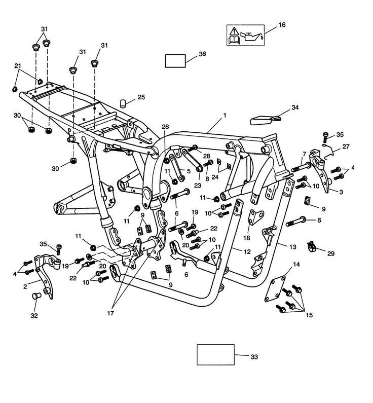 2017 Triumph Bonneville T100 Main Frame Ings Parts Best