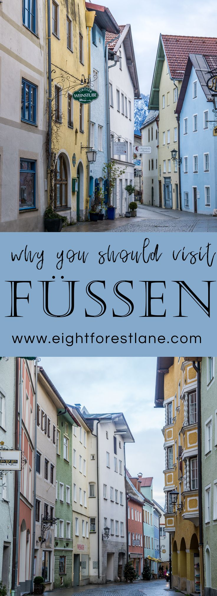 The best things to do when visiting the colourful town of Füssen, Germany. #ger…