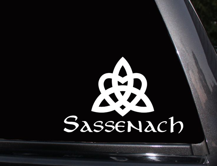 Sassenach, Outlander, Jamie Fraser Vinyl Decal, Phone Decal,Laptop Decal, Wall Decal,Car Decal