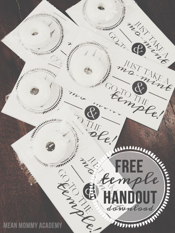 Relief Society temple activity idea + free handout printable