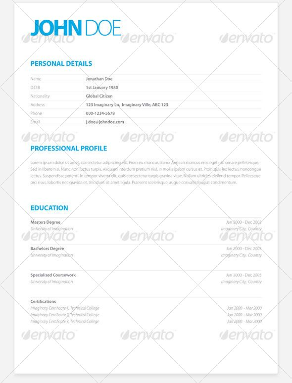 best template for resume
