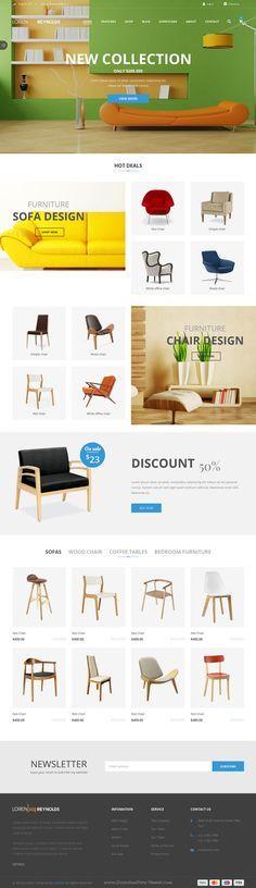 JV Loren is minimal and unique design Responsive Virtuemart Joomla Template  with