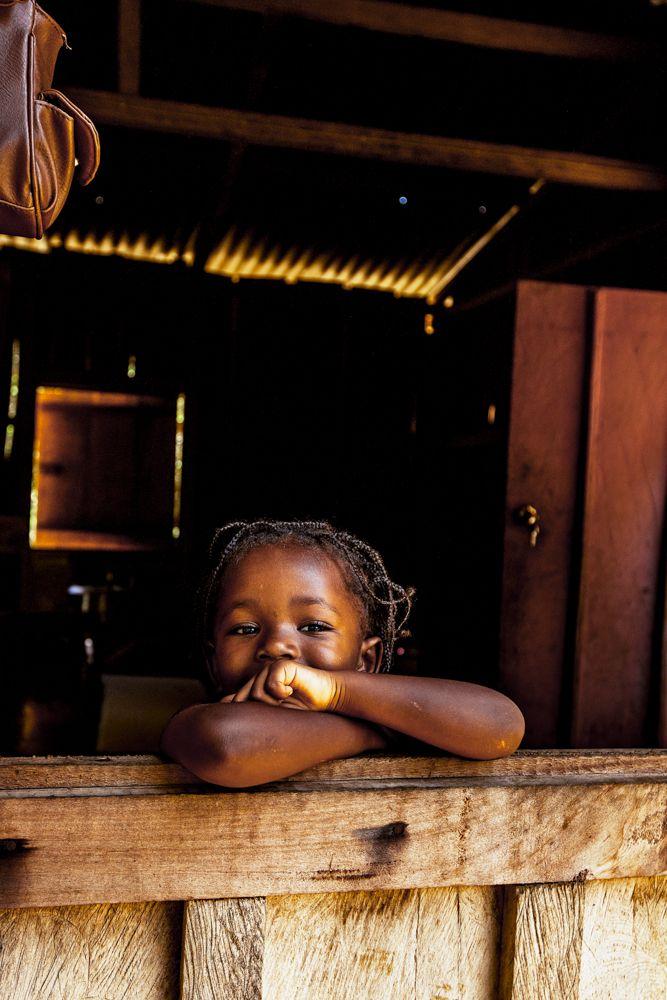 A precious face of São Tomé e Principe.