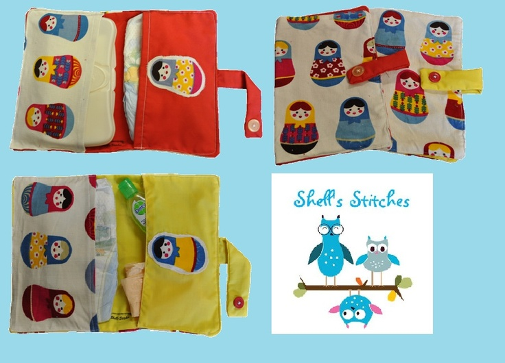 Bubushka Doll Nappy Wallets. To order go to www.facebook.com/shellsstitches