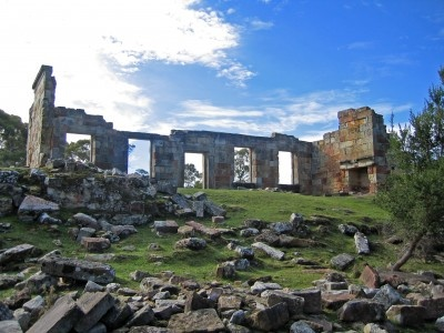 The Coal Mine ruins, a convict site that's free to visit.
