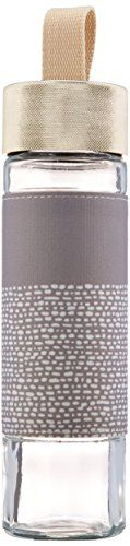 Ello Este BPA-Free Glass Water Bottle with Lid, Grey, 20 oz. >>> Read more at the image link.