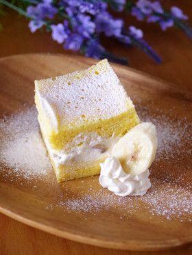 HMとレンジで簡単☆時短のバナナケーキ