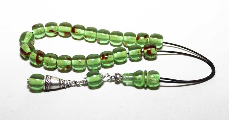 Green Amber color Worry Beads, Handmade Greek Komboloi, Tesbih, Relaxation, Meditation. by AlterDecoCoinsnBeads on Etsy