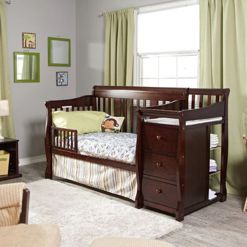 convertible crib + changing table