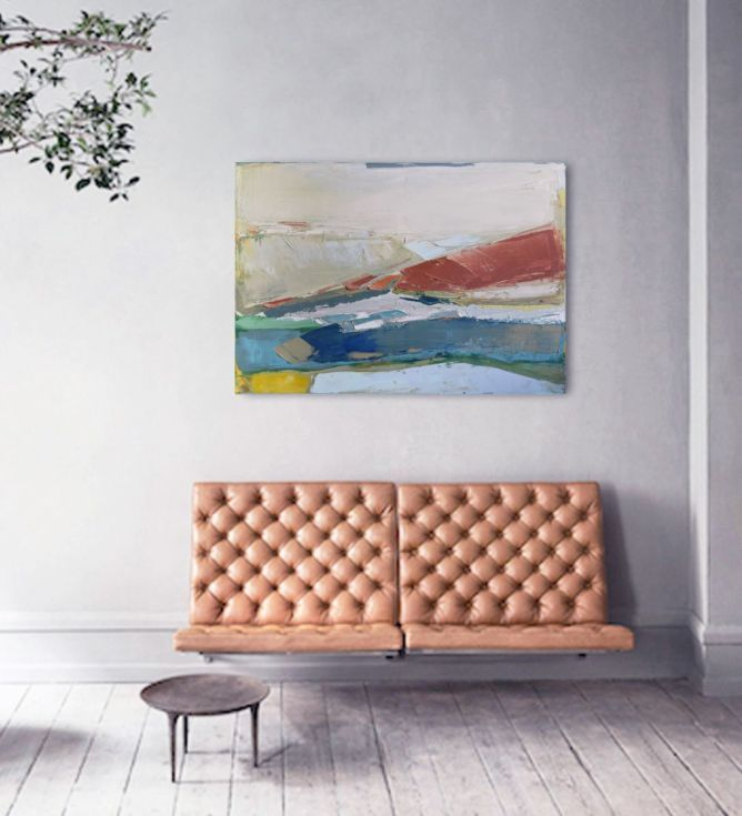 """Buy Oil painting, canvas art, stretched, """"Landscape 41"""". Size 39,4/ 27,6 inches (100/70cm), Oil painting by Karina Antończak on Artfinder. Discover thousands of other original paintings, prints, sculptures and photography from independent artists."""