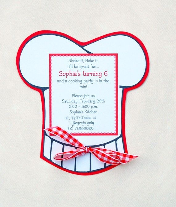 The Cooking Party  Custom Invites from Mary by maryhadalittleparty, $22.50