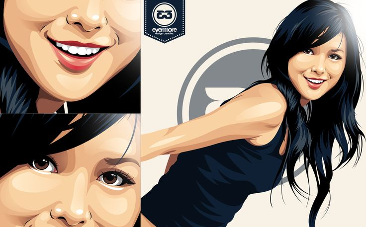 Just random Indonesian Girl - Vector by Evermore DC