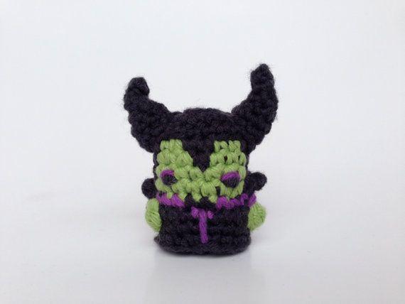 Disneys Maleficent Crocheted Amigurumi Kawaii by LouiesLoops